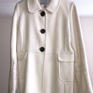 Long white trench coat